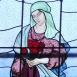 Mórahalmi Szent László-templom szentélyének üvegablakai