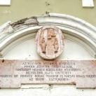 Templomépítési emléktábla és címer együttese