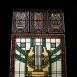 A Kultúrház lépcsőházának üvegablakai
