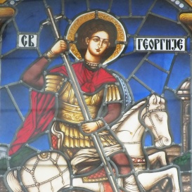 Szent György vértanú üvegképe