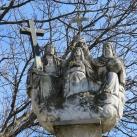 Szentháromság-szobor Mária megkoronázásával