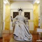 Justitia szobra az egykori Igazságügyi Palotából