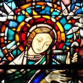 Szent Cecília üvegablak