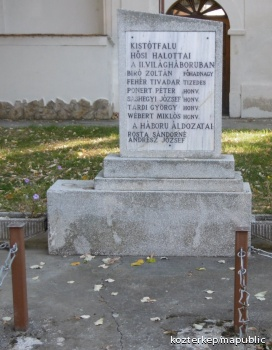 II. világháborús áldozatok emlékműve