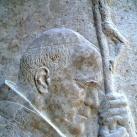 Szent II. János Pál pápa domborműve