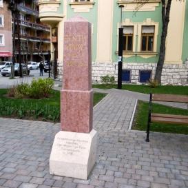 Erzsébet királyné emlékoszlopa