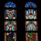 Mátyás-templom szentélyének üvegablakai (felső ablaksor) 2.