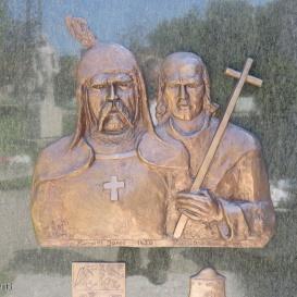 Hunyadi János és Kapisztrán János domborműve