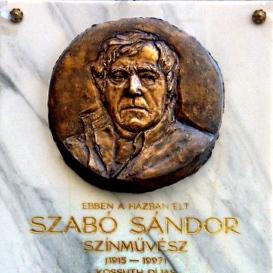 Szabó Sándor domborműves emléktábla