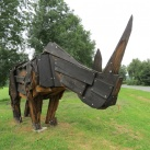 Orrszarvú-szobor