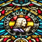 Krisztus üvegablak