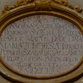 Református templom alapításának emléktáblája