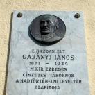 Gabányi János domborműves emléktáblája
