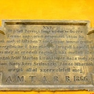Műemlék tábla XVI.