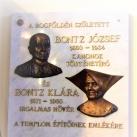 Bontz József és Bontz Klára emléktáblája