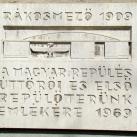 Rákosmező 1909 (Repülőtér) emléktábla