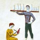 Fischer Mór Porcelánipari Szakiskola épületdísze