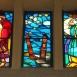 I. számú ravatalozó: Attila temetése: keleti oldali üvegablakok
