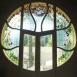 A Kőrössy villa kávézójának üvegalkotásai