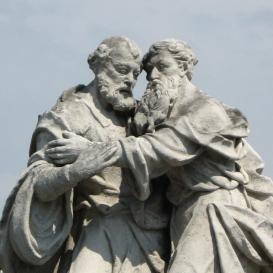 Szent Péter és Pál szobra