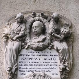 Szepessy László emléktáblája