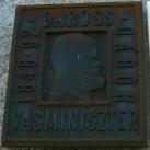 Baross Gábor domborműve és emléktáblája