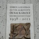 Ócsai Károly emléktáblája