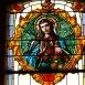 Ajkai Jézus szíve-templom üvegablakai