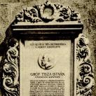 Gróf Tisza István utcanévtábla