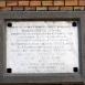 Évfordulós tábla II. Lajos táborának emlékére