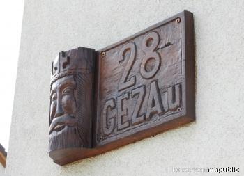 Géza u. utcatábla