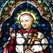 Borromei Szent Károly üvegablak