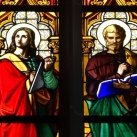 Az északi mellékhajó üvegablakai – A négy evangelista
