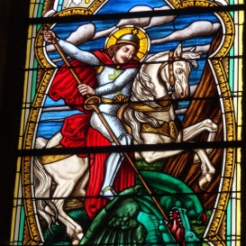 Tolcsvai római katolikus templom üvegablakai 2.