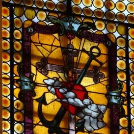 A Nádi Boldogasszony templom üvegablakai