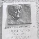 Bálint Sándor-emléktábla