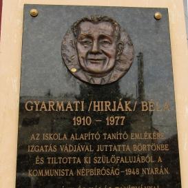 Gyarmati (Hirják) Béla-emléktábla