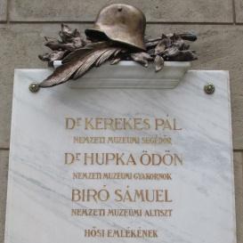 A Magyar Nemzeti Múzeum I. világháborús emléktáblája