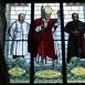 A római katolikus templom üvegablakai