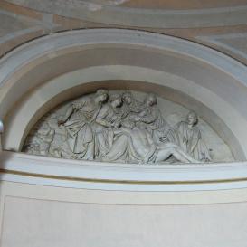 A gannai Szent kereszt felmagasztalása templom belső párkánydomborművei