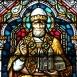 Szent Gyula pápa üvegablak