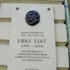 Erki Edit domborműves emléktábla