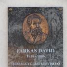 Farkas Dávid-emléktábla