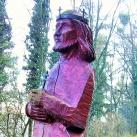Szent István fa szobra