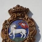 Szentendre címere a városháza homlokzatán