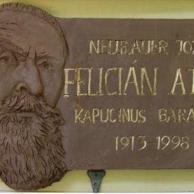 Felicián atya-emléktábla