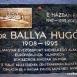 Dr. Ballya Hugó domborműves emléktábla
