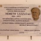 Németh László-emléktábla