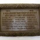 A Debreceni Református Kollégium első világháborús emléktáblái