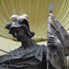 Szent Flórián görög katolikus kápolna épületdíszítő szobrai